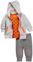 Isaac Mizrahi Long Sleeve Top, Hoodie & Pant 3-Set (Baby Boys)