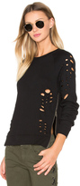 Black Orchid Side Zip Distressed Sweatshirt
