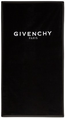 Givenchy logo-embroidered beach towel