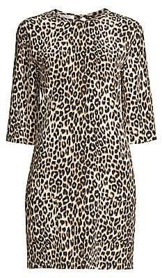 Equipment Women's Aubrey Silk Animal Print Dress