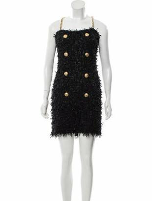 Balmain Sleeveless Mini Dress Black