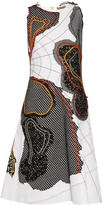 Bottega Veneta Abstract-appliqué sleeveless dress