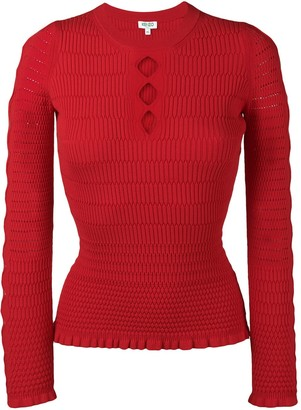 Kenzo cut-out fitted jumper