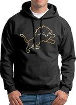 Sarah Men's Detroit Lions Gold Logo Hoodie XXL