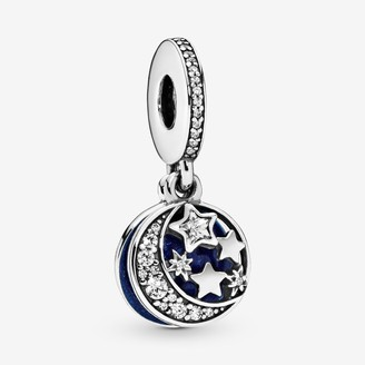 Pandora Moon & Blue Sky Dangle Charm