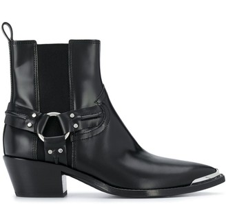 Ash Strap-Embellished Ankle Boots