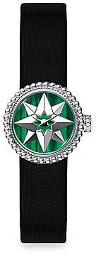 Christian Dior Women's La Mini D de Rose De Vents Malachite & Satin Watch