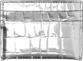 Burberry Sandon Metallic Croc Embossed Faux Leather Card Holder