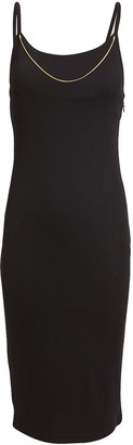 Alexander Wang Tech Bodycon Chain Dress