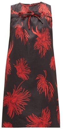 No.21 No. 21 - Floral-print Satin Mini Dress - Black Red