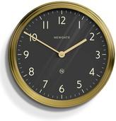 Newgate Black & Brass Spy Wall Clock
