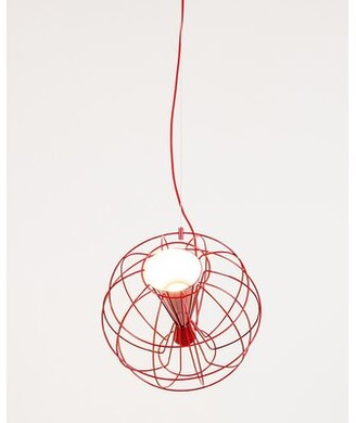 Innermost Latitude 1-Light Single Globe LED Pendant Shade Color: Red