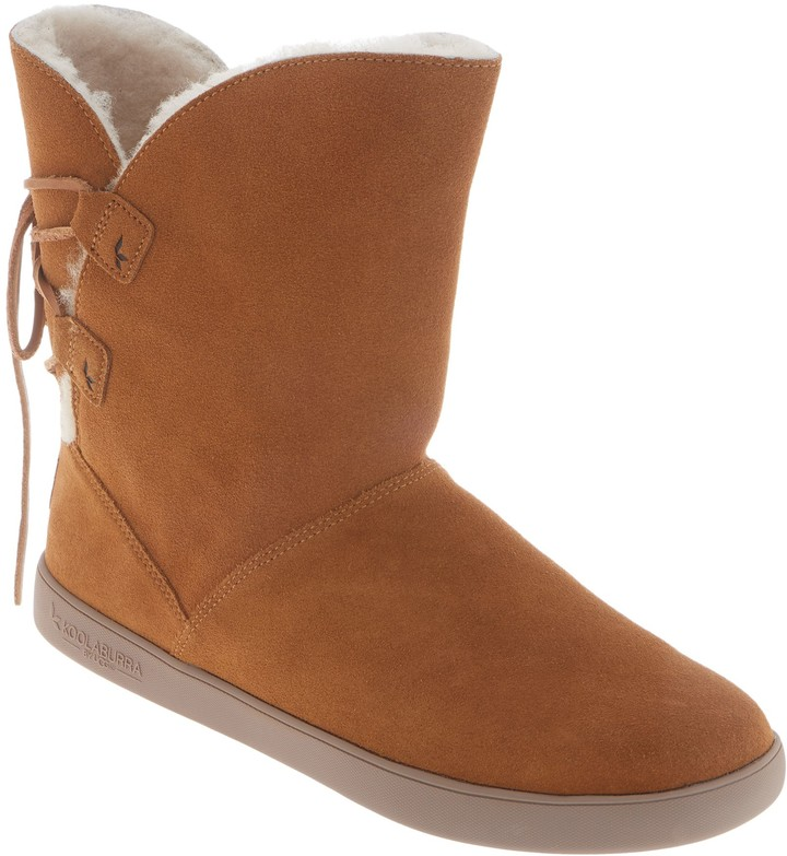 be35e98f231 By Ugg by UGG Suede Tie Back Short Boots - Shazi