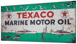 Crystal Art Texaco Marine Motor Oil Metal Sign Wall Decor