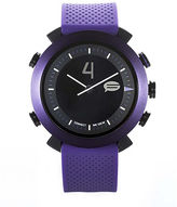 Asstd National Brand Cogito Classic Purple Silicone Strap Analog/Digital Smartwatch