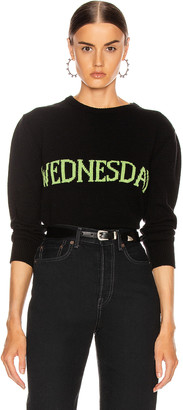 Alberta Ferretti Wednesday Sweater in Fantasy Black | FWRD