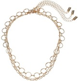 Steve Madden Three-Piece Chain Choker Set Necklace