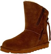 BearPaw Women's Mimi Suede/Sheepskin/Wool Ankle-High Sheepskin Boot