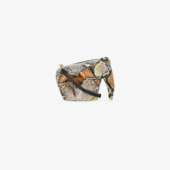 Loewe Mini Python Skin Elephant Bag