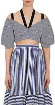 Erdem Women's Debra Striped Cotton Crop Top
