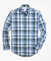 Brooks Brothers Madison Fit Open Plaid Zephyr Sport Shirt