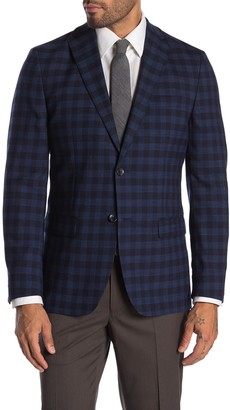 Tommy Hilfiger Blue & Black Glenplaid Two Button Notch Lapel Sport Coat