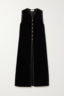 Saint Laurent Cotton-velvet Vest - Black
