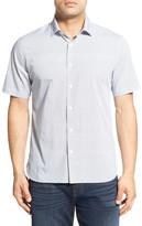 Toscano Regular Fit Short Sleeve Print Sport Shirt