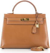 Hermes Cognac/Gold Courchevel 32cm Sellier Kelly Bag