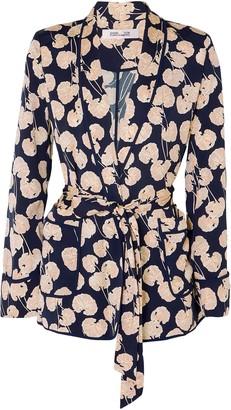 Diane von Furstenberg Braelyn Printed Crepe Jacket