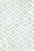 Jonathan Adler Blue Pierre Reversible Peruvian Llama Flat Weave Rug