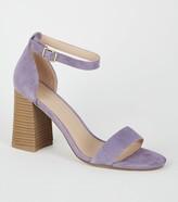 New Look Suede Flare Block Heel Sandals