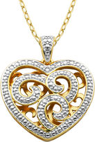 SPARKLE ALLURE Classic Treasures Diamond Accent Heart Pendant Necklace