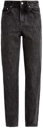Ganni Washed Denim Straight Jeans