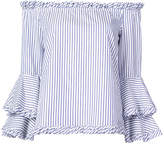 Caroline Constas off-shoulder striped blouse