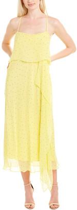 Mason by Michelle Mason Double Layer Silk Maxi Dress