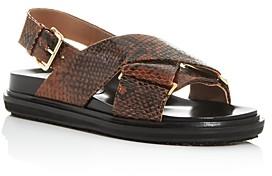 Marni Women's Fussbett Woven Slingback Platform Sandals