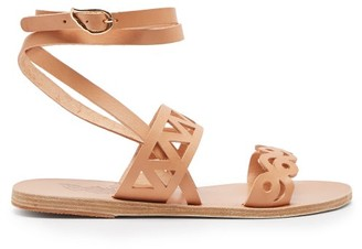 Ancient Greek Sandals Ostria Cut-out Leather Sandals - Tan