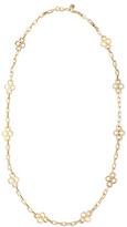 Clover-Station Necklace, Gold