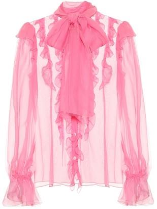 Dolce & Gabbana Ruffled silk-chiffon blouse