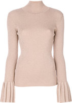 Carven metallic roll neck jumper