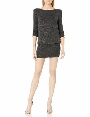 ASTR the Label Women's Backstage Sparkle Knit Blouson Mini Dress