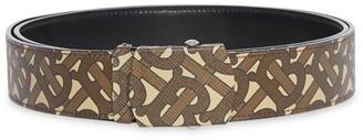 Burberry TB Monogram E-Canvas & Leather Belt
