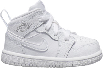 Jordan AJ 1 Mid Basketball Shoes - White