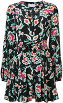 Tanya Taylor tie waist floral dress - women - Silk - 2