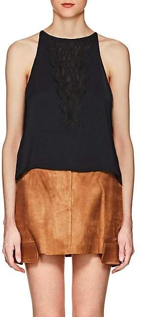 Ramy Brook Women's Mona Crepe Halter Top - Black Size S