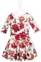 MonnaLisa rose print dress
