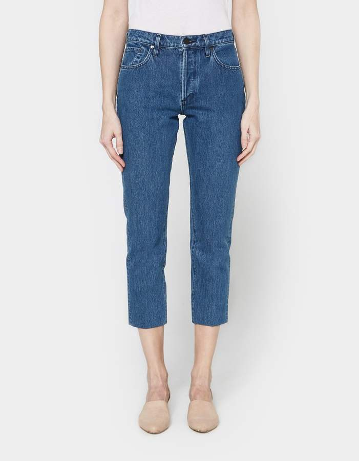 Gold Sign Refit High Rise Cropped Straight Jean
