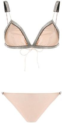 Oseree Embellished Trim Two-Piece Bikini