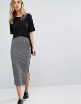 Whistles Melange Jersey Rib Tube Skirt